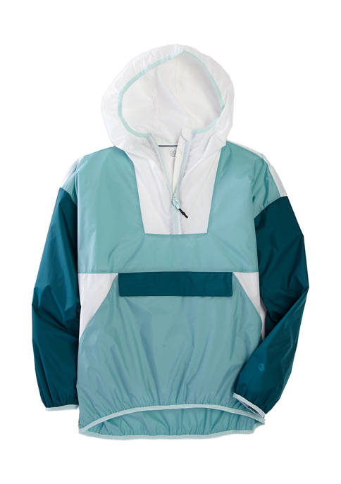 Womens Long Sleeve Color Block Pullover
