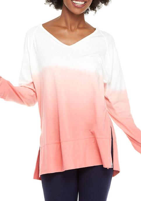 Ocean & Coast® Womens Long Sleeve Dip Dye
