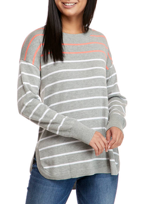 Crown & Ivy™ Womens Long Sleeve Zip Back
