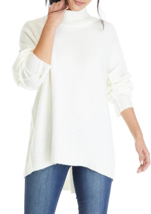 Crown & Ivy™ Womens Drop Shoulder Sleeve Mock