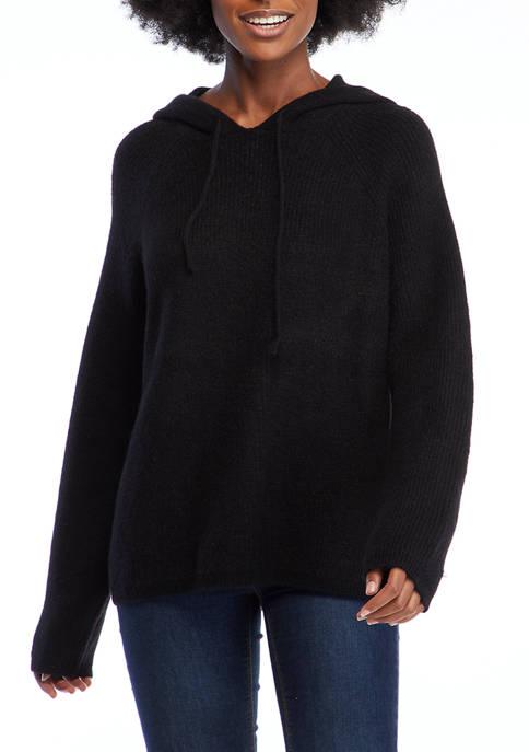 Crown & Ivy™ Womens Long Sleeve Sweater Hoodie