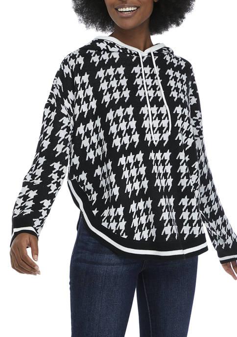 Crown & Ivy™ Womens Long Sleeve Hooded Sweater