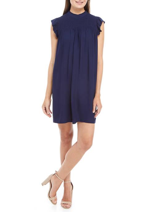 Crown & Ivy™ Womens Smocked Yoke Dress
