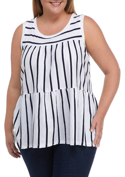 Crown & Ivy™ Plus Size Sleeveless Tiered Tank