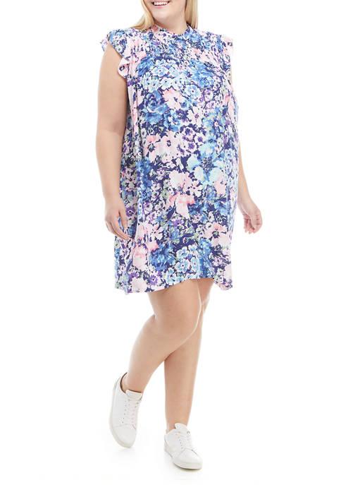 Crown & Ivy™ Plus Size Smock Yoke Dress