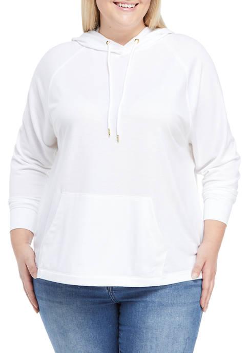 Plus Size Long Dolman Sleeve Hoodie