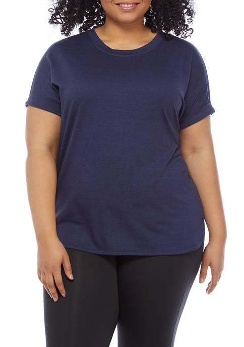Crown & Ivy™ Plus Size Roll Sleeve Shirt