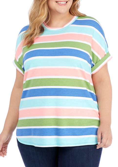 Crown & Ivy™ Plus Size Baby Terry T-Shirt