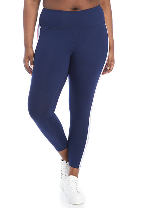 Crown & Ivy™ Plus Size Side Stripe Leggings
