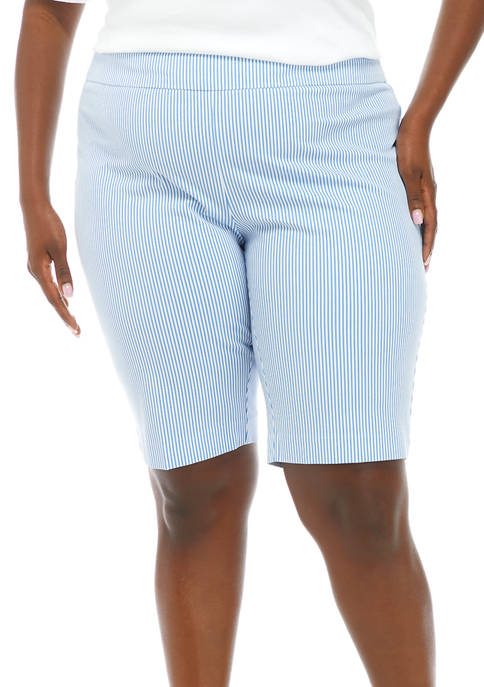 Crown & Ivy™ Plus Size Pinstripe Pull On