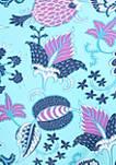 Floral Apex Triangle Swim Bikini Top