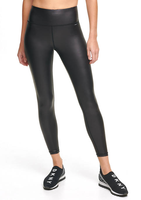 DKNY Sport Faux Leather High Waist Leggings