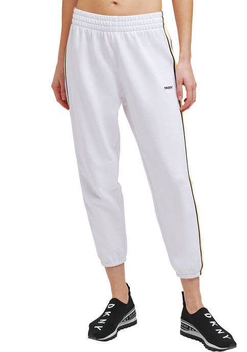 DKNY Sport High Waist Relaxed Cropped Joggers with