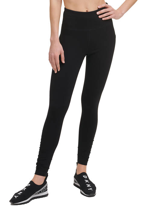 DKNY Sport High Waist Leggings with Ruched Detail