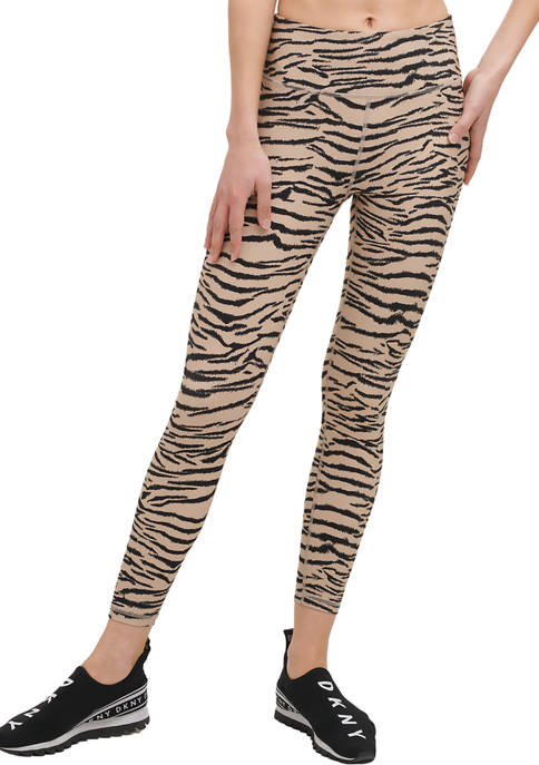 DKNY Sport Tiger King Print High Waist Leggings