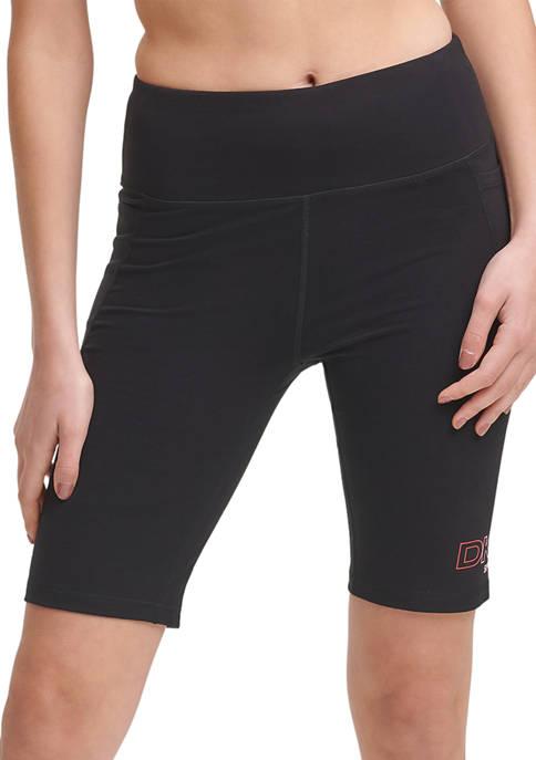 DKNY Sport Ombré Logo High Waist Bike Shorts