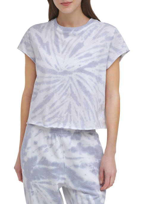 DKNY Sport Spiral Tie-Dye Short Sleeve Boxy T-Shirt