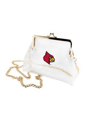 Capri Designs Women Ncaa University Of Louisville Cardinals Kiss Lock Crossbody