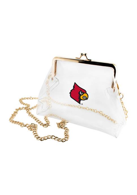 NCAA University of Louisville Cardinals Kiss Lock Crossbody