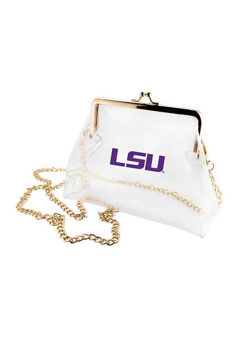 Capri Designs NCAA LSU Tigers Kiss Lock Crossbody