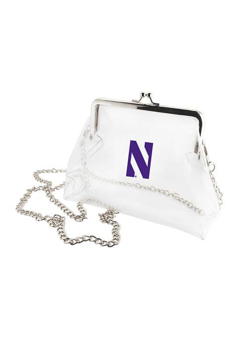NCAA Northwestern Wildcats Kiss Lock Crossbody