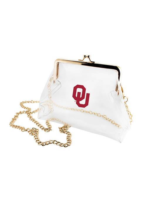 NCAA University of Oklahoma Sooners Kiss Lock Crossbody