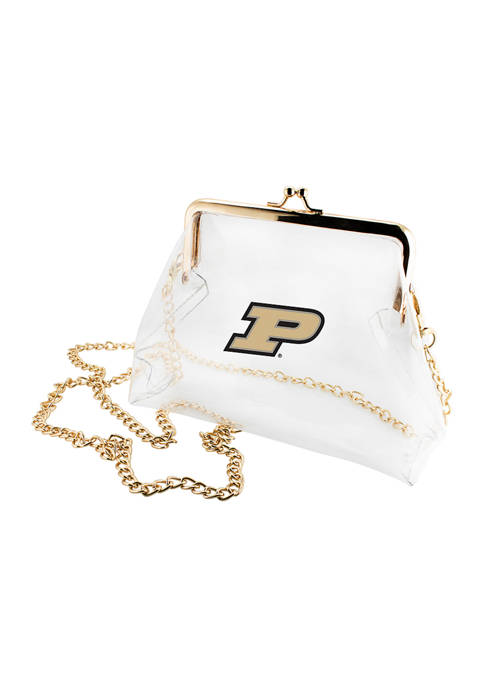 NCAA Purdue Boilermakers Kiss Lock Crossbody