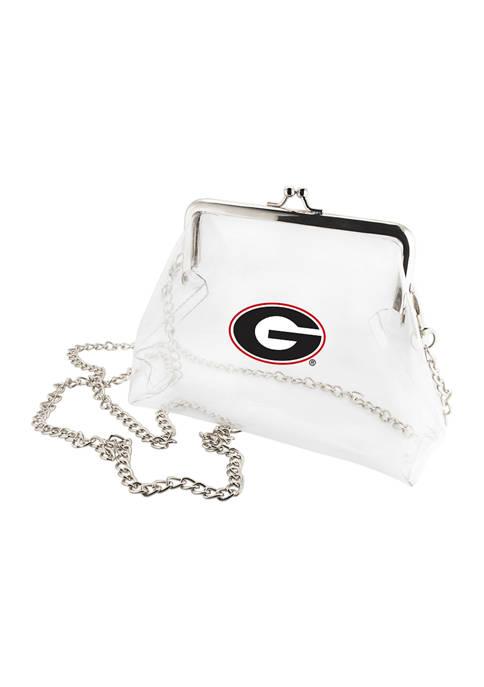 Capri Designs NCAA Georgia Bulldogs Kiss Lock Crossbody