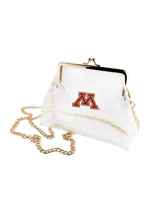 NCAA University of Minnesota Gophers Kiss Lock Crossbody
