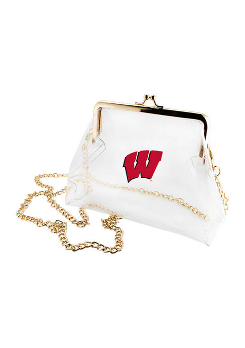 NCAA University of Wisconsin Badgers Kiss Lock Crossbody