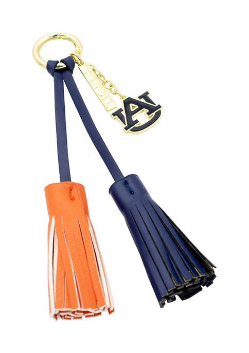 NCAA Auburn University Tassel Keychain With Charm