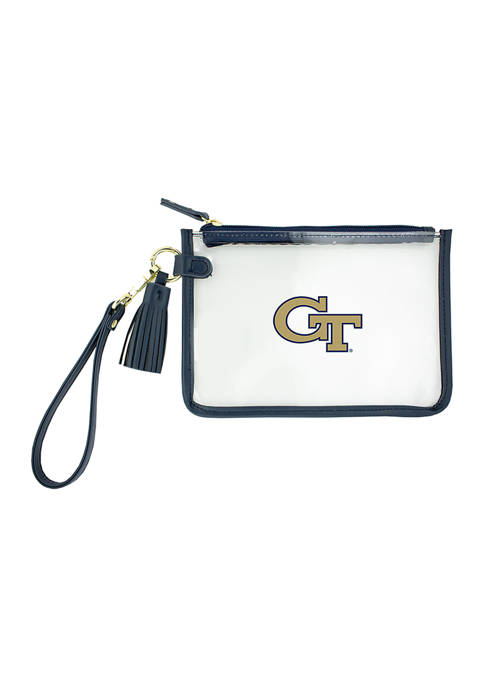 Capri Designs NCAA Georgia Tech Wristlet