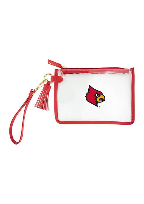 Capri Designs NCAA University of Louisville Wristlet