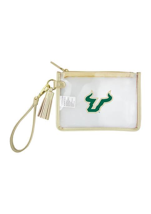 Capri Designs NCAA South Florida Bulls Wristlet