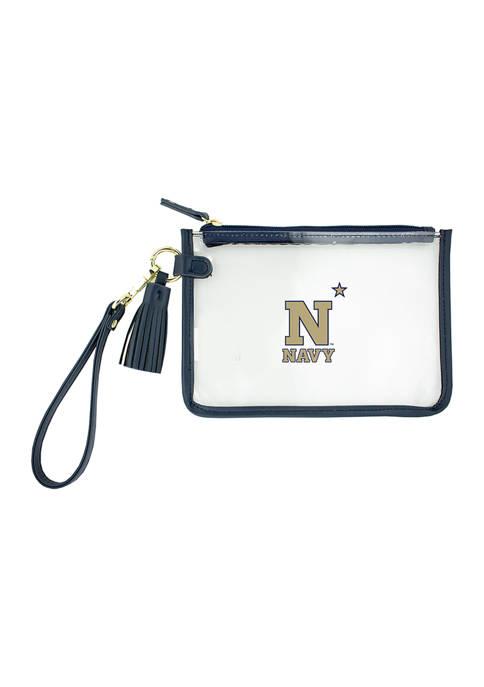 Capri Designs NCAA United States Naval Academy Wristlet