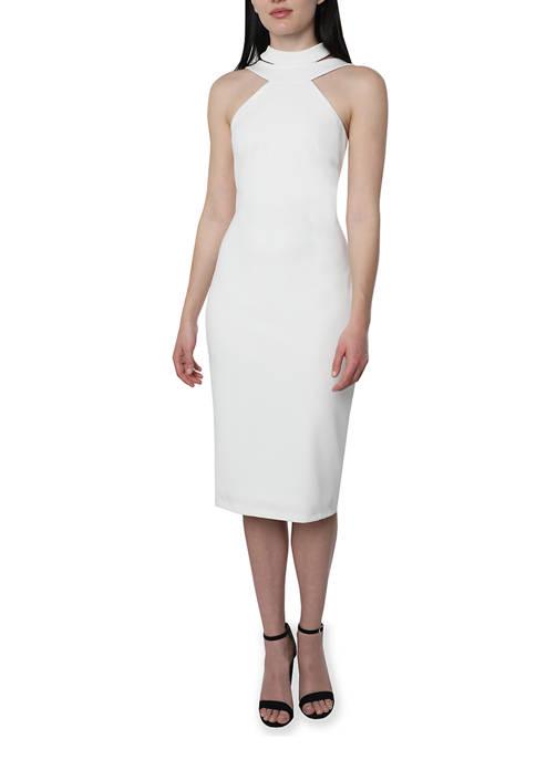 Bebe Halter Neck Midi Dress
