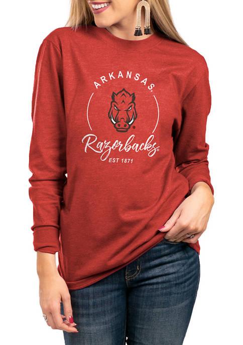 NCAA Arkansas Razorbacks For The Home Team Long Sleeve Top