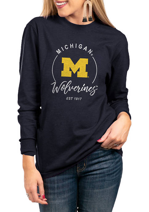 NCAA Michigan Wolverines For The Home Team Long Sleeve Top