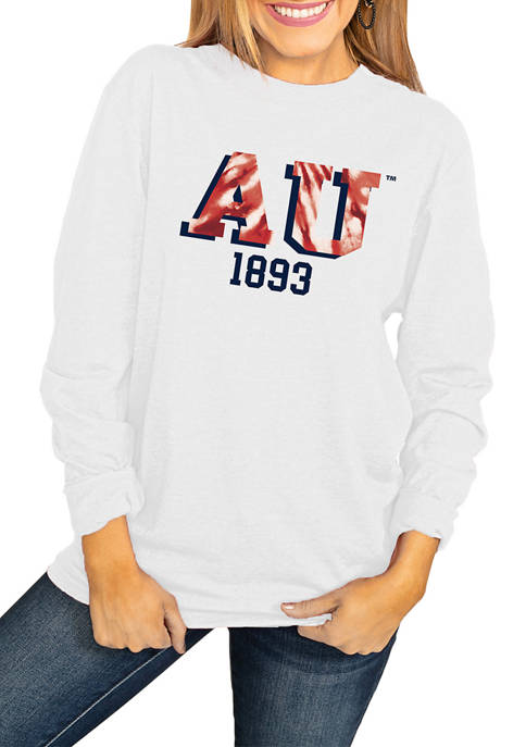 NCAA American University Eagles No Time to Tie Dye Long Sleeve Top