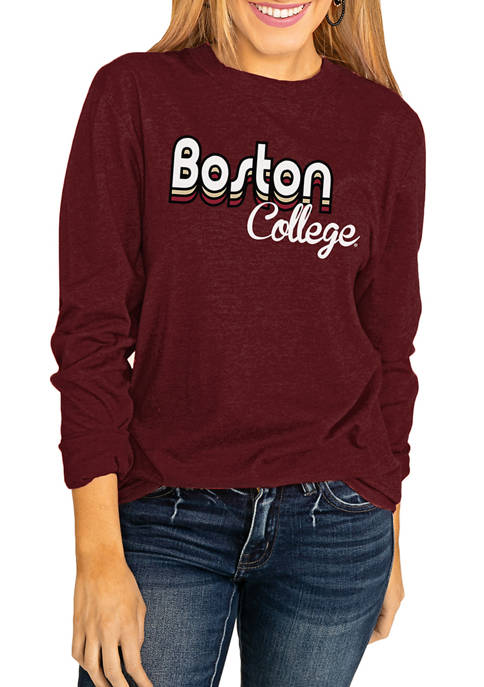 NCAA Boston College Eagles Throwback Varsity Vibes Long Sleeve Top