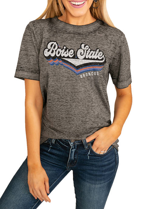 NCAA Boise State Broncos Vivacious Varsity Boyfriend Top