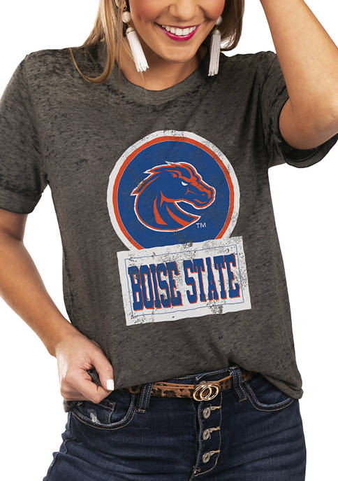 NCAA Boise State Broncos Let The Good Vibes Roll Boyfriend Top