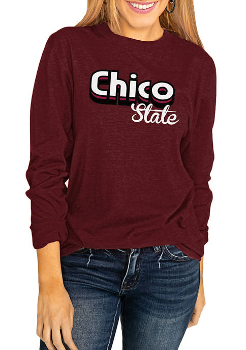 NCAA Chico State Wildcats Throwback Varsity Vibes Long Sleeve Top