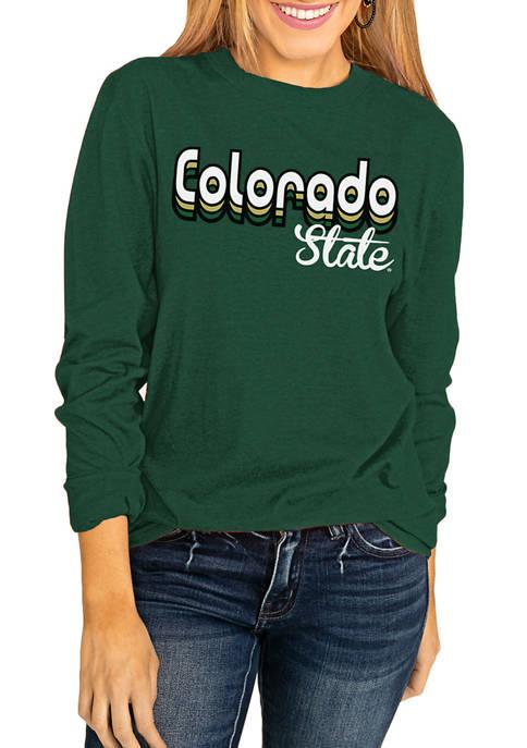 NCAA Colorado State Rams Throwback Varsity Vibes Long Sleeve Top
