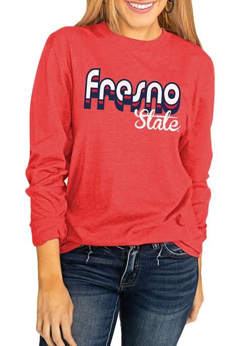 NCAA Fresno State Bulldogs Throwback Varsity Vibes Long Sleeve Top