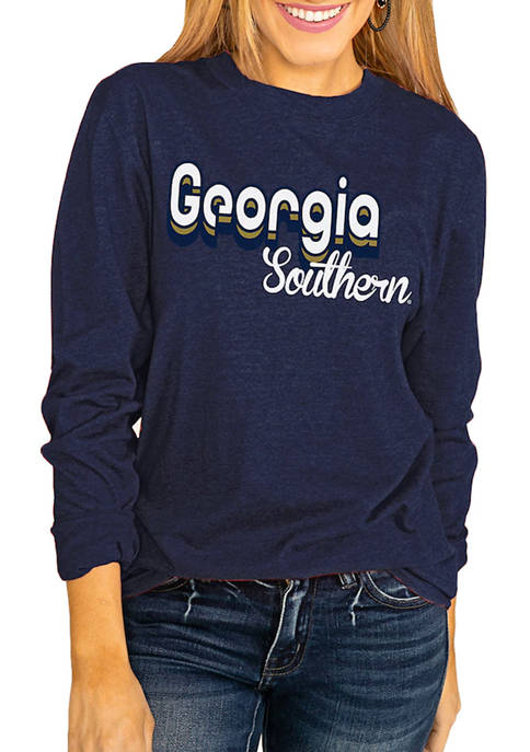 NCAA Georgia Southern Eagles Throwback Varsity Vibes Long Sleeve Top