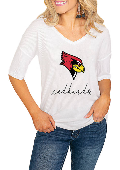 NCAA Illinois State Redbirds Easy Does It Soft Knit Ribbed Top