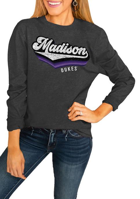 NCAA James Madison Dukes Vivacious Varsity Long Sleeved Top