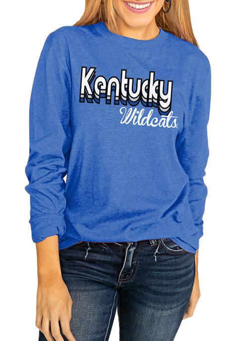 NCAA Kentucky Wildcats Throwback Varsity Vibes Long Sleeve Top