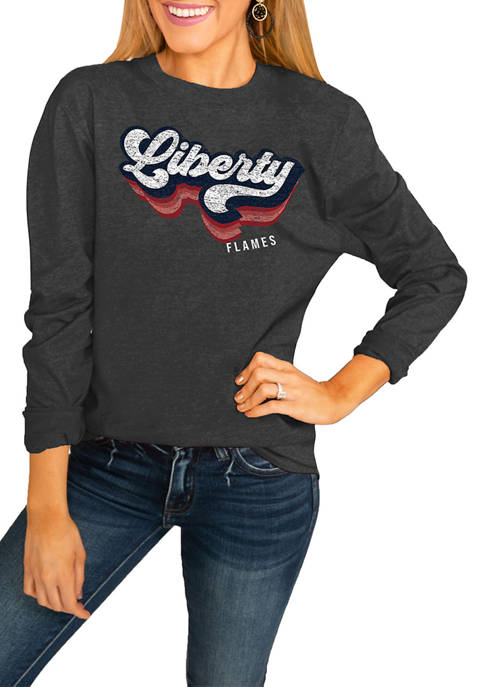 NCAA Liberty University Flames Vivacious Varsity Long Sleeved Top